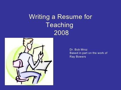 How to Make a Good Teacher Resume Template